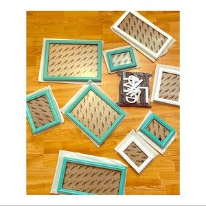 Turquoise Photo Frame Gallery Collage Set